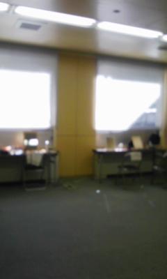 小田原アリーナのメイク室。